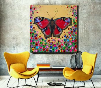 """""""Butterfly Canvas Print"""" From £85"""