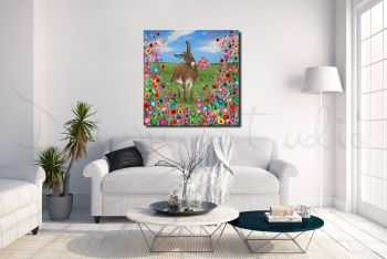 """Donkey Canvas Print"" From £85"