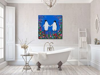 """""""Penguin Canvas Print"""" From £85"""