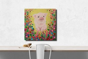 """Piglet Canvas Print"" From £85"