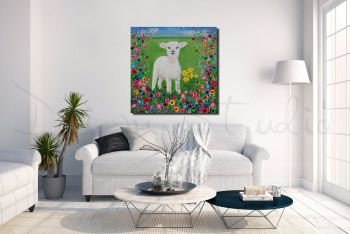 """Welsh Lamb Canvas Print"" From £85"