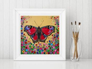 Jo Gough - Butterfly with flowers Print From £10