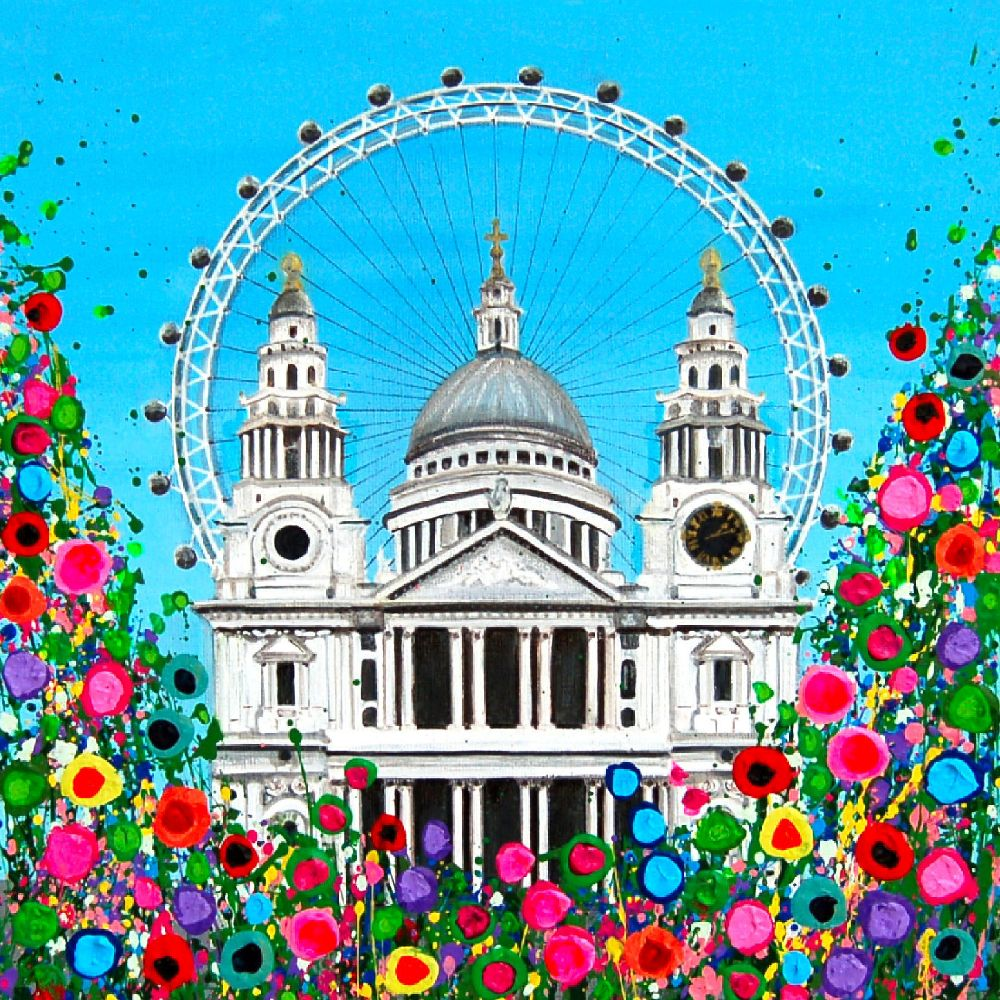 St Pauls Cathedral & London Eye