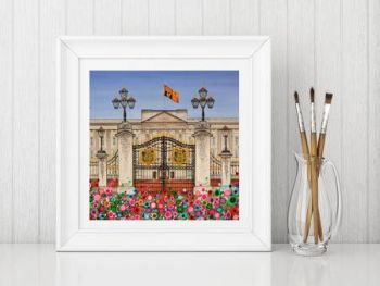 Jo Gough - Buckingham Palace London with flowers Print From £10