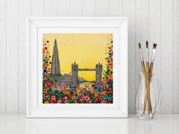 Jo Gough - The Shard London with flowers Print From £10