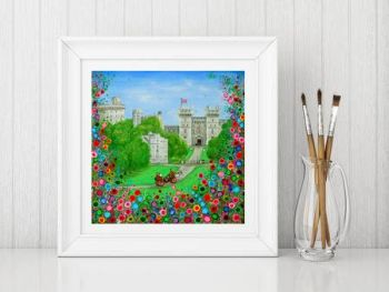 Jo Gough - Windsor Castle London with flowers Print From £10