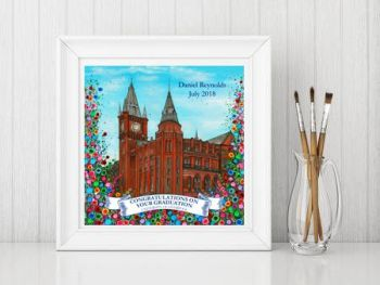 Jo Gough - The Victoria & Gallery Museum Personalised Graduation with flowers Print From £10
