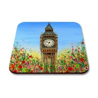 Jo Gough - Big Ben London with flowers Coaster