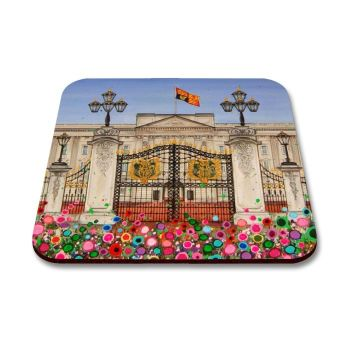 Jo Gough - Buckingham Palace London with flowers Coaster