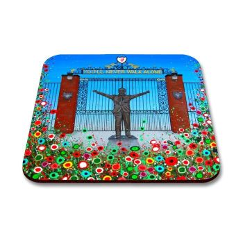 Jo Gough - LFC Shankly Gates with flowers Coaster