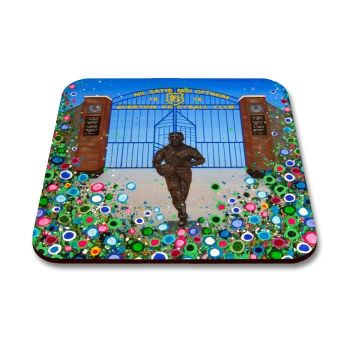Jo Gough - EFC Dixie Dean with flowers Coaster