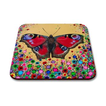 Jo Gough - Butterfly with flowers Coaster