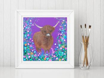 Jo Gough - Highland Cow Print From £10