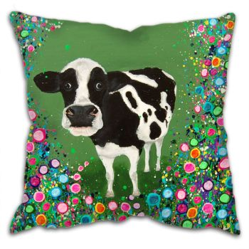 Jo Gough - Cow with flowers Cushion