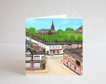 Jo Gough - Hoole High Street Scene Greeting Card