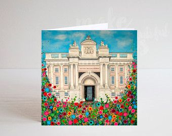 Jo Gough - National Maritime Museum Greenwich with flowers Greeting Card