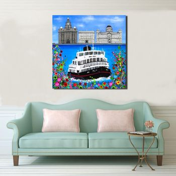 Jo Gough - The 3 Graces with flowers Canvas Print From £85