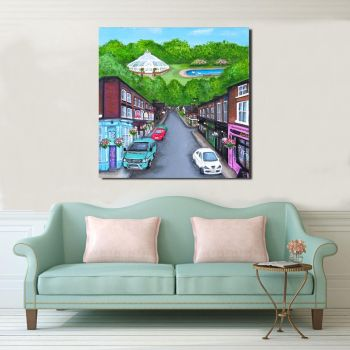 Jo Gough - Lark Lane Liverpool Street Scene Canvas Print From £85