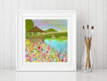 Jo Gough - The Groves Chester with flowers Print From £10