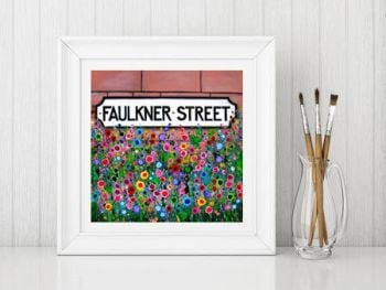 Jo Gough - Faulkner St Hoole with flowers Print From £10