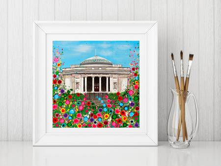 Jo Gough - Lady Lever Art Gallery with flowers Print From £10