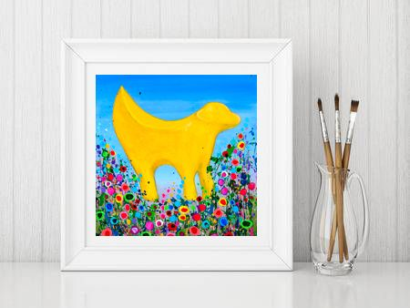 Jo Gough - Lambanana Liverpool with flowers Print From £10