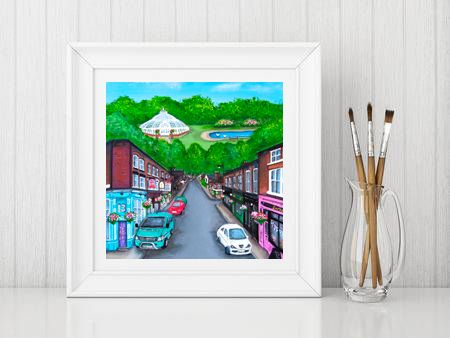 Jo Gough - Lark Lane Street Scene Print From £10