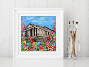 Jo Gough - St Georges Hall with flowers Print From £10