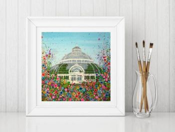 Jo Gough - The Palm House Liverpool with flowers Print From £10