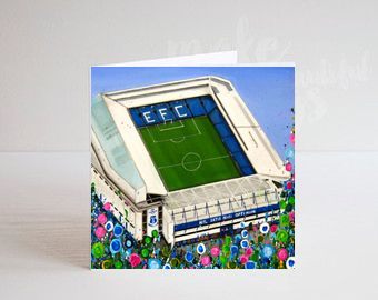 Jo Gough - EFC Stadium with flowers Greeting Card