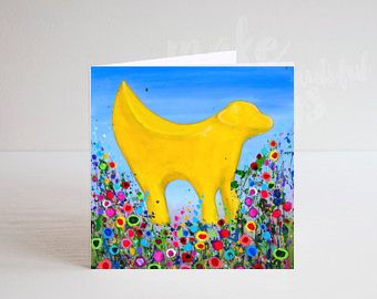 Jo Gough - Lambanana Liverpool with flowers Greeting Card
