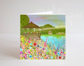 Jo Gough - The Groves Chester with flowers Greeting Card