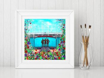 Jo Gough - MUFC Old Trafford Stadium with flowers Print From £10