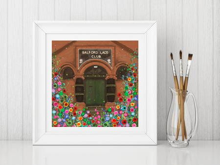 Jo Gough - Salford Lads Club Manchester with flowers Print From £10