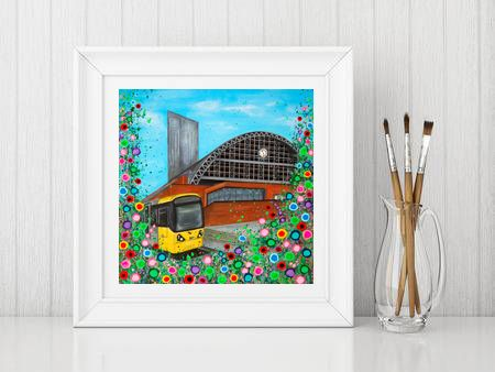 Jo Gough - GMEX Manchester with flowers Print From £10