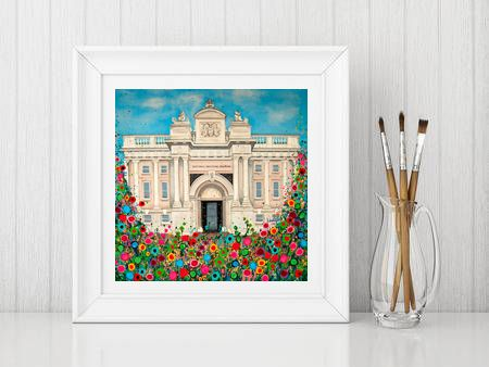 Jo Gough - National Maritime Museum Greenwich with flowers Print From £10