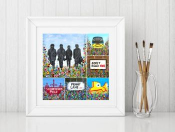"""Beatles Montage Print"" From £10"