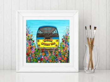 """Magical Mystery Tour Bus Print"" From £10"