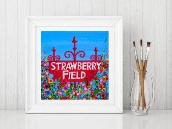 """Strawberry Field Print"" From £10"