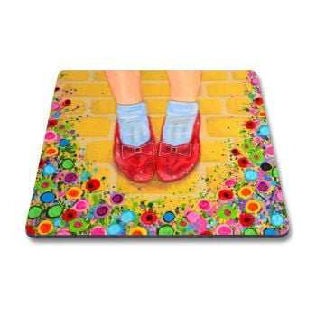Jo Gough - The Wizard of Oz Ruby Slippers with flowers Magnet
