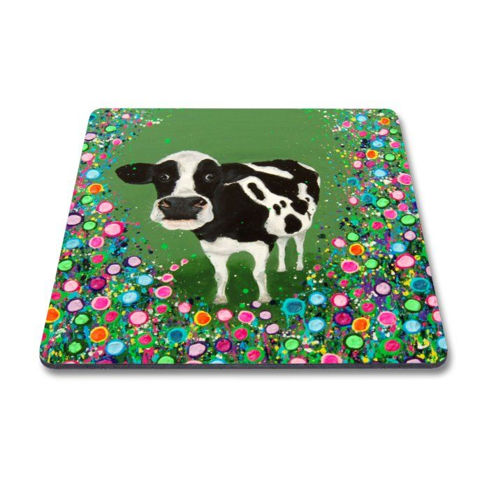 Jo Gough - Cow with flowers Magnet