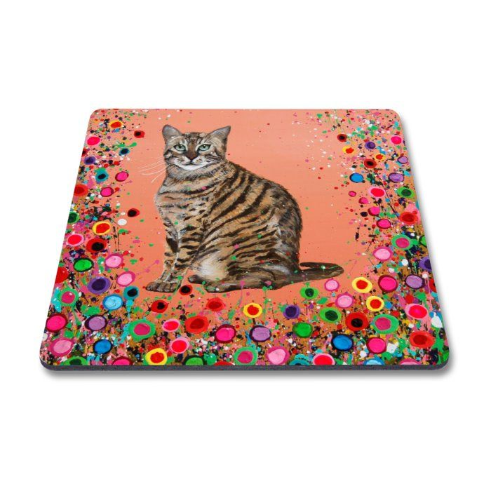 Jo Gough - Cat with flowers Magnet