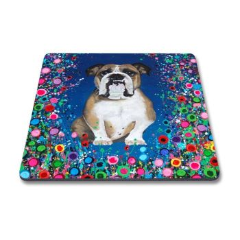Jo Gough - Bull Dog with flowers Magnet