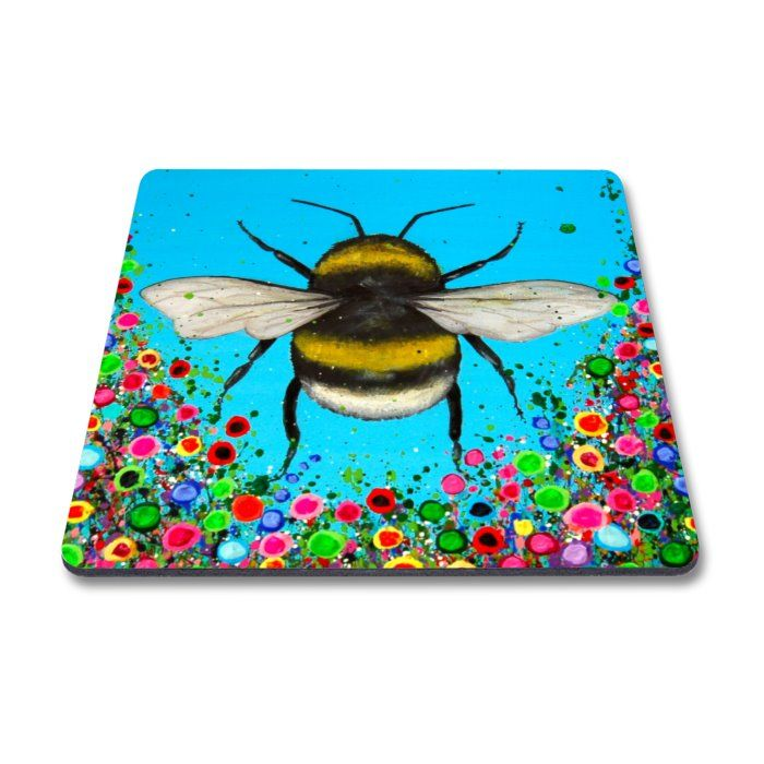 Jo Gough - Bumble Bee with flowers Magnet