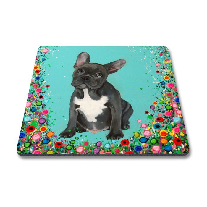 Jo Gough - French Bull Dog with flowers Magnet