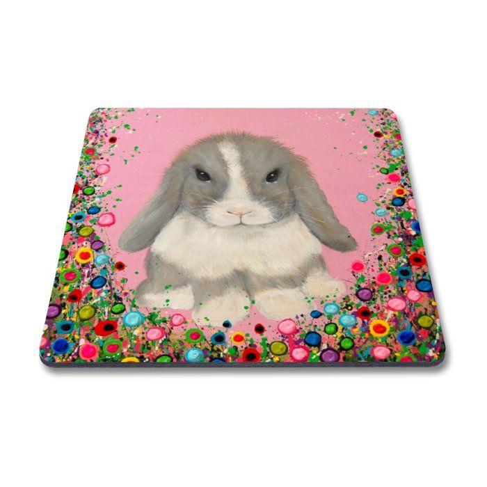 Jo Gough - Mini Lop Rabbit with flowers Magnet