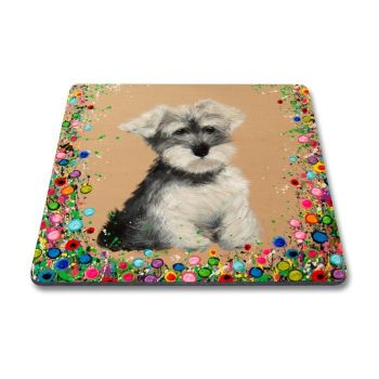 Jo Gough - Mini Schnauzer with flowers Magnet