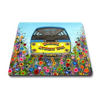 Jo Gough - Magical Mystery Tour Bus with flowers Magnet