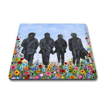 Jo Gough - The Beatles Statues with flowers Magnet