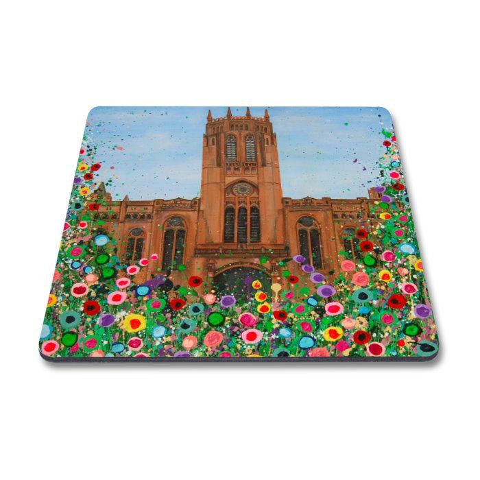 Jo Gough - Anglican Cathedral with flowers Magnet